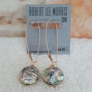 New Robert Lee Morris Mother of Pearl Disc Earring